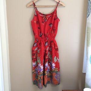 Vintage lotus medium summer dress